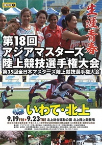 全日本マスターズ陸上200m結果。