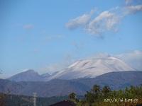 浅間山が白い