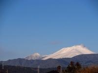 真っ白な浅間山