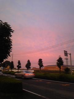 きれいな夕焼け〜☆