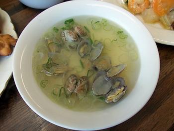 あさりの薬味スープ