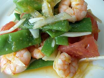 エビと夏野菜のサラダ2