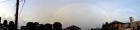 虹の端から端を撮った@伊勢崎市の理容室の店主