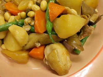 根菜と鶏の煮物