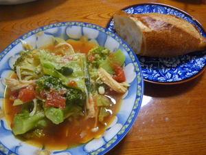 最近のおいらの夕飯〜アミラのパンと共に