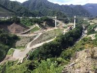 八ッ場ダム ダム湖予定地の様子