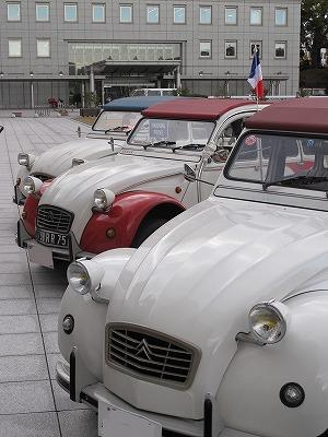 フランス祭でフランス車を堪能中