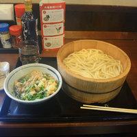 毎月一日は丸亀製麺がお得です。 釜揚げうどんプラス肉汁@丸亀製麺前橋南モール店