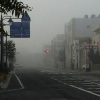 高崎市街地は濃霧です。