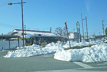 安中の雪景色 ♪
