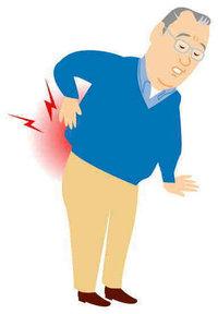 ゴルフの後の股関節の痛みが取れ難くなってきた男性