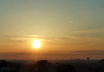 今朝の雲と太陽 ♪