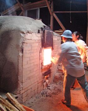 「自性寺焼 秋里窯」の窯焼き見学 ♪