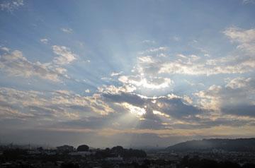 雲間から・・・♪