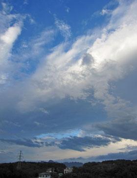 雲がおもしろい・・・♪
