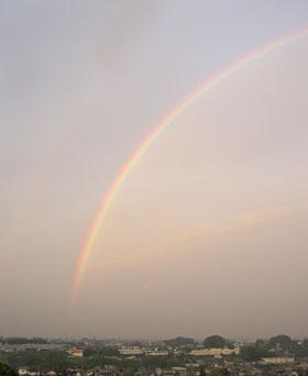 虹が・・・♪