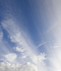 きょうの雲と逆さまの虹 ♪