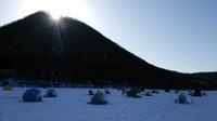 榛名湖氷上25日まで!!