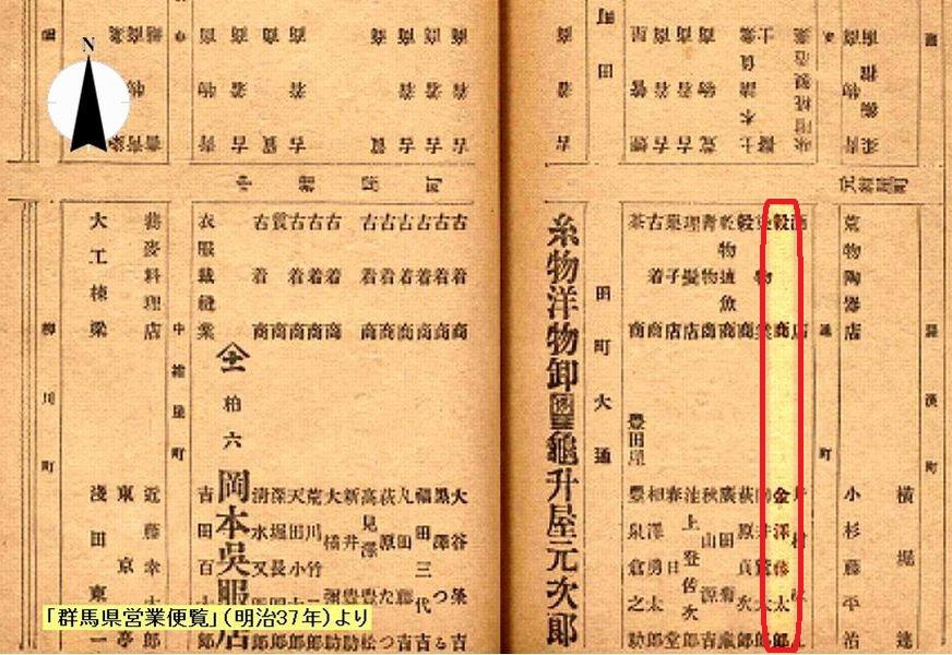 史跡看板散歩-24 金沢米穀店