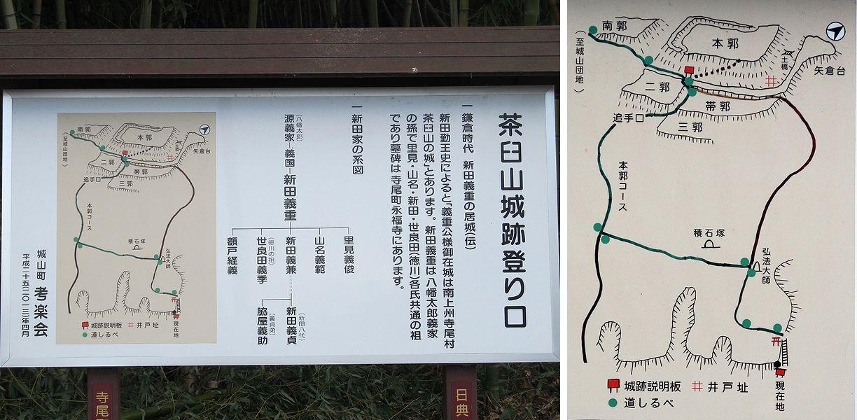 史跡看板散歩-82 茶臼山城跡
