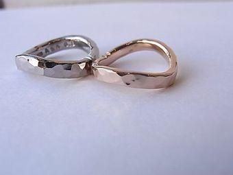 市松の波型のリング