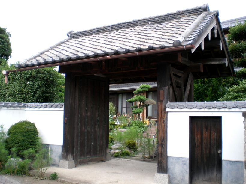 民家に残る高崎城