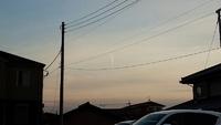 気になった雲~高崎市井野駅周辺と茨城県震度3。