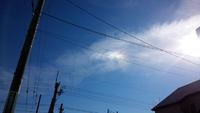 幻日かな、彩雲かな…。