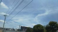 気になる雲~高崎市井野駅周辺。「龍神」