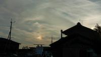 気になる雲~高崎市井野駅周辺~幻日。