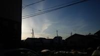 気になる雲~幻日…高崎市井野駅周辺。
