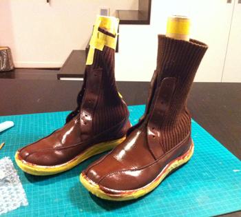 ブーツの補修・色替え