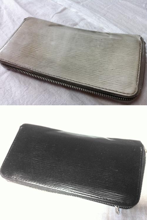 財布の施工(カラーチェンジ)
