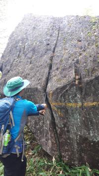 こんな岩を見つけました