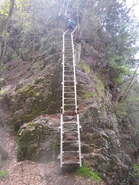 アカヤシオの石裂山