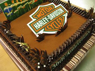『ハーレーダビッドソンのケーキ♪』
