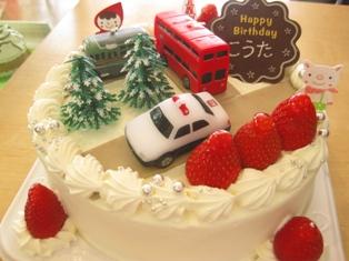 『お誕生日ケーキ☆パンダとトミカ』