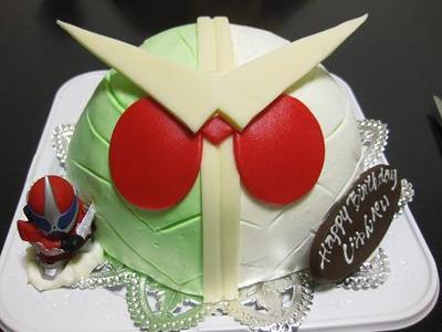 『仮面ライダーダブルのケーキ☆』
