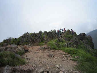 浅間山の第一外輪山・黒斑山ハイキング 2