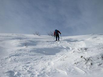 冬の烏帽子岳 1
