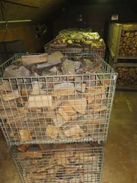 薪乾燥のついでに