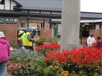 花の駅で作業