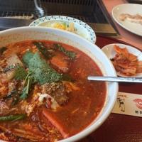 朝鮮飯店のカルビクッパランチ