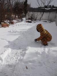 初、雪遊び♪