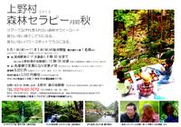 群馬県上野村2013森林セラピー月間:秋のご案内