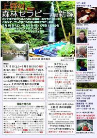 群馬県上野村2013森林セラピー月間:新緑のご案内