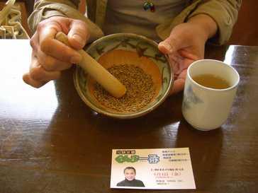 福寿庵 季節限定 いぐさ(えぐさ)汁そば