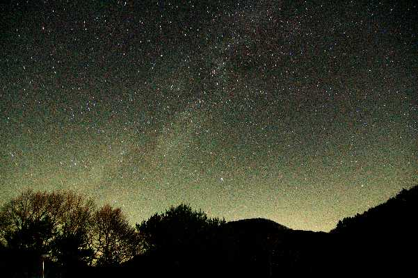 上野村の今晩の星空