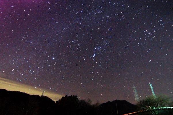 上野村、昨晩の星空