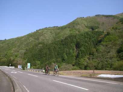世界一周フランス人自転車乗りと ツールド西上州コース風景③